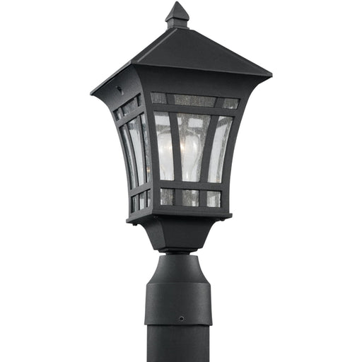 Herrington Black Outdoor Post Lantern - Outdoor Post Lantern