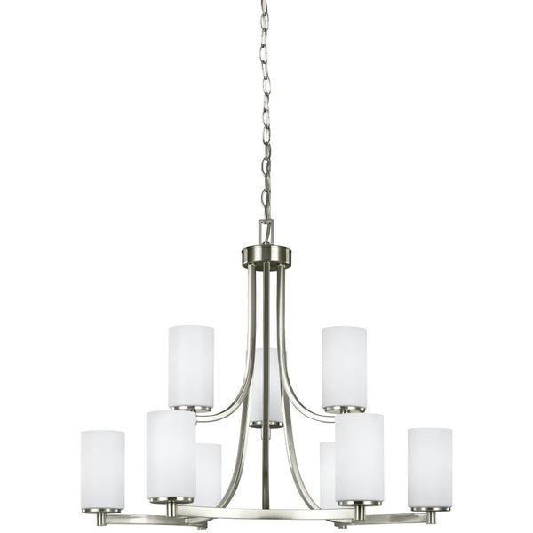 Hettinger Brushed Nickel Chandelier - Chandeliers