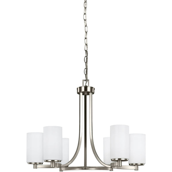 Hettinger Brushed Nickel LED Chandelier - Chandeliers