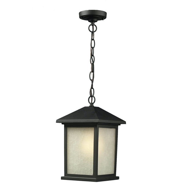 Holbrook Black Outdoor Chain Mount Ceiling Fixture - Outdoor Chain Mount Ceiling Fixture