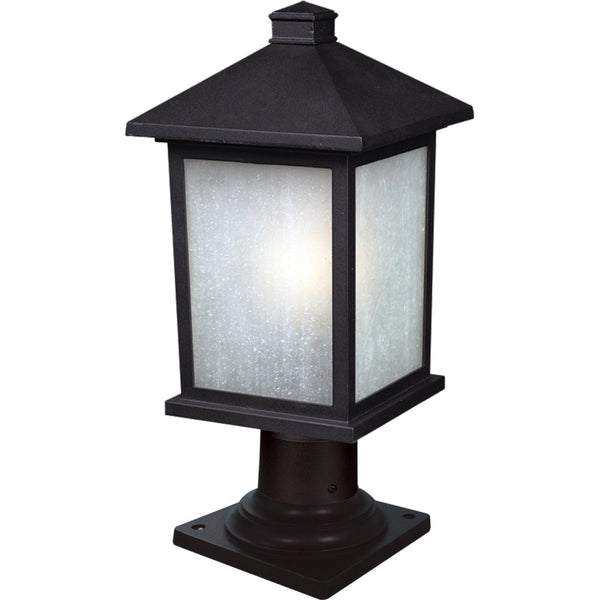 Holbrook Black Outdoor Pier Mounted Fixture - Outdoor Pier Mounted Fixture