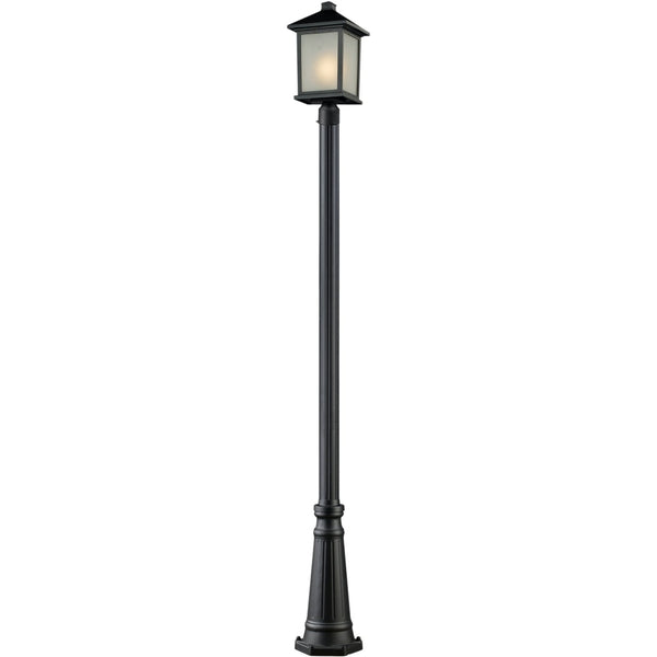 Holbrook Black Outdoor Post Mounted Fixture - Outdoor Post Mounted Fixture
