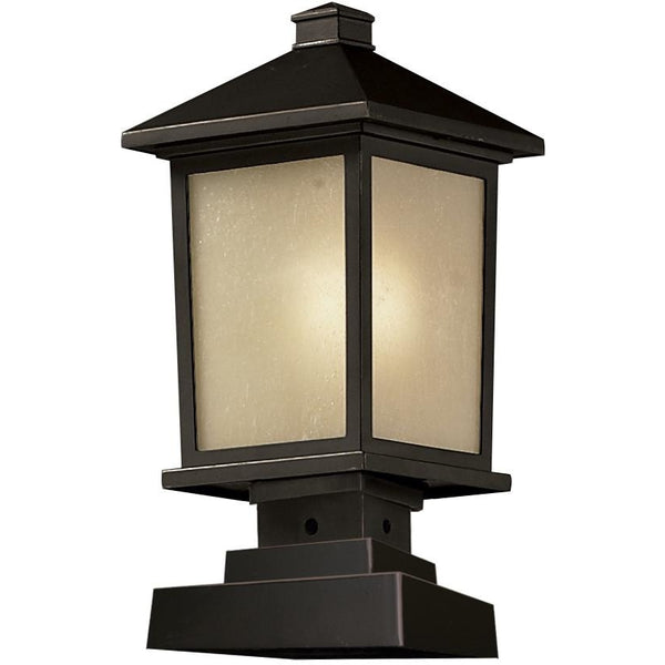 Holbrook Oil Rubbed Bronze Outdoor Pier Mounted Fixture - Outdoor Pier Mounted Fixture