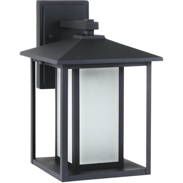 Hunnington Black LED Outdoor Wall Lantern - Outdoor Wall Sconce