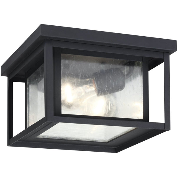 Hunnington Black Outdoor Flush Mount - Outdoor Flush Mounts