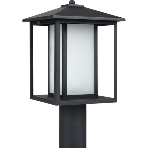 Hunnington Black Outdoor Post Lantern - Outdoor Post Lantern