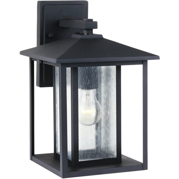 Hunnington Black Outdoor Wall Lantern - Outdoor Wall Sconce