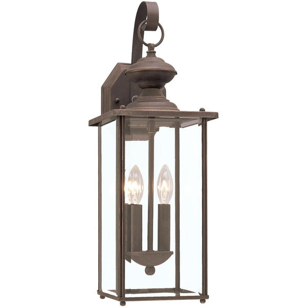 Jamestowne Antique Bronze LED Outdoor Wall Lantern - Outdoor Wall Sconce