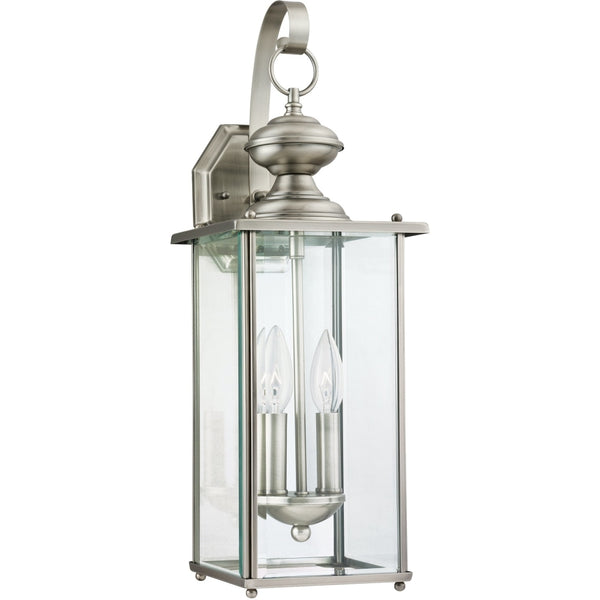 Jamestowne Antique Brushed Nickel Outdoor Wall Lantern - Outdoor Wall Sconce