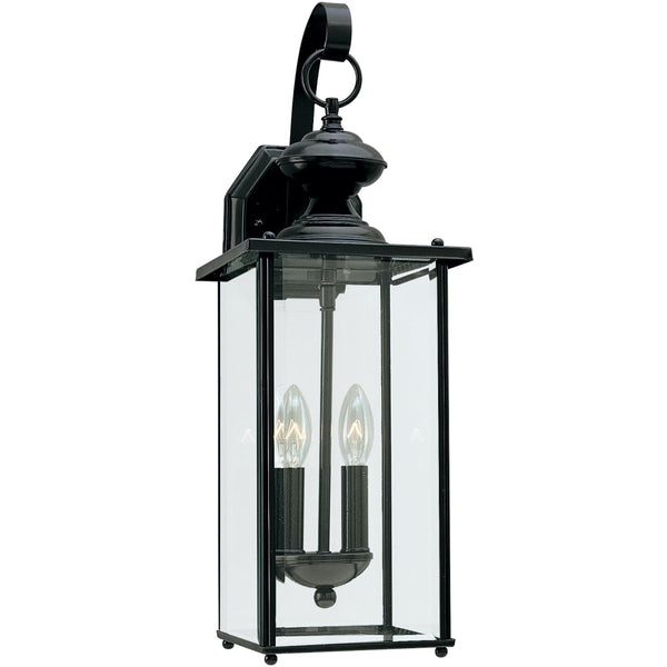 Jamestowne Black LED Outdoor Wall Lantern - Outdoor Wall Sconce