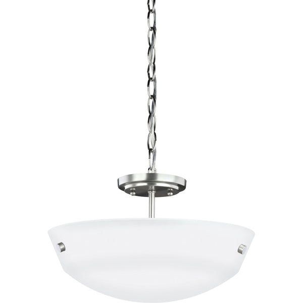 Kerrville Brushed Nickel Semi-Flush Mount Convertible Pendant - Pendants