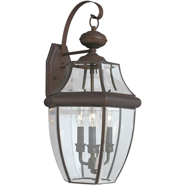 Lancaster Antique Bronze Outdoor Wall Lantern - Outdoor Wall Sconce