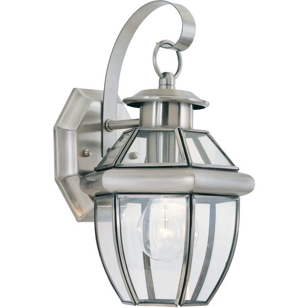 Lancaster Antique Brushed Nickel Outdoor Wall Lantern - Outdoor Wall Sconce