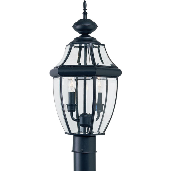 Lancaster Black LED Outdoor Post Lantern - Outdoor Post Lantern