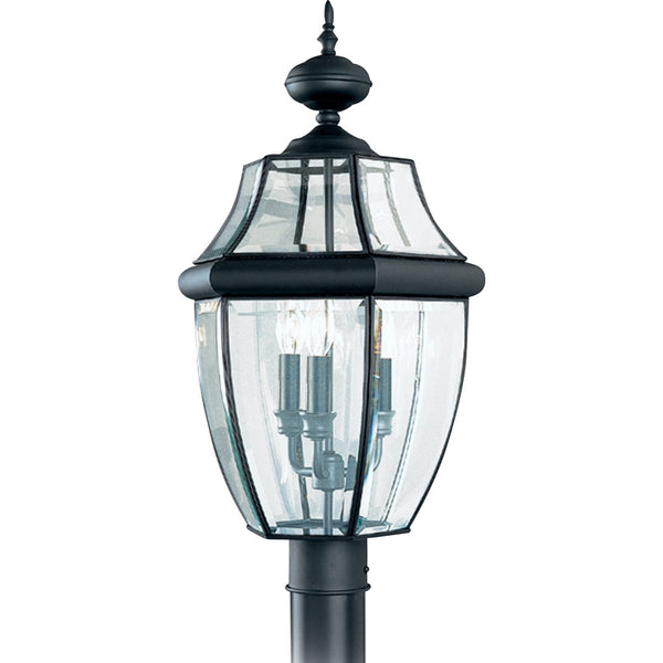 Lancaster Black Outdoor Post Lantern - Outdoor Post Lantern