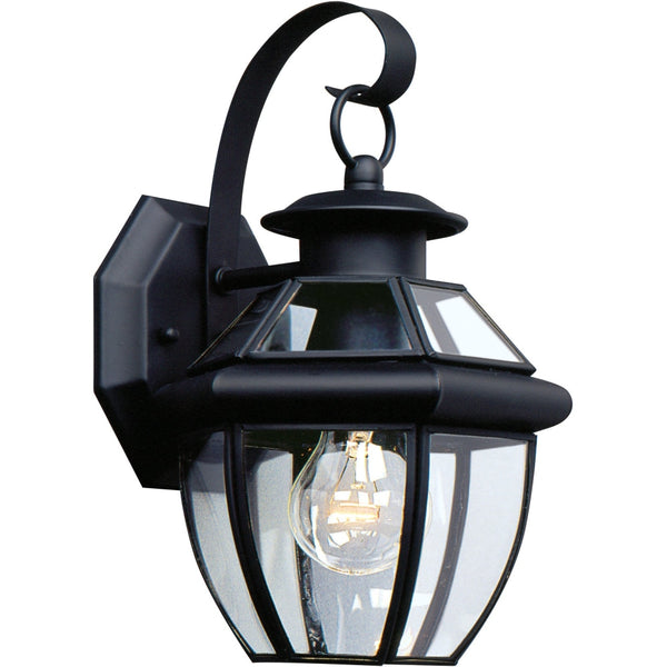 Lancaster Black Outdoor Wall Lantern - Outdoor Wall Sconce