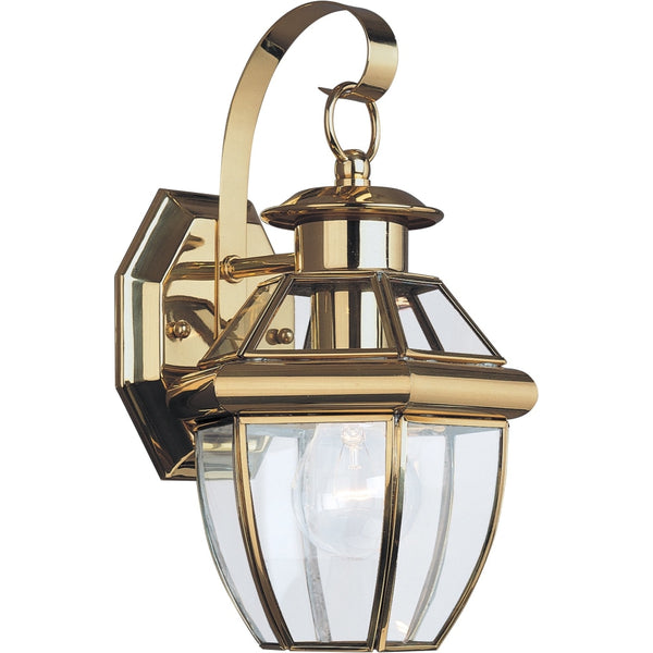 Lancaster Polished Brass Outdoor Wall Lantern - Outdoor Wall Sconce