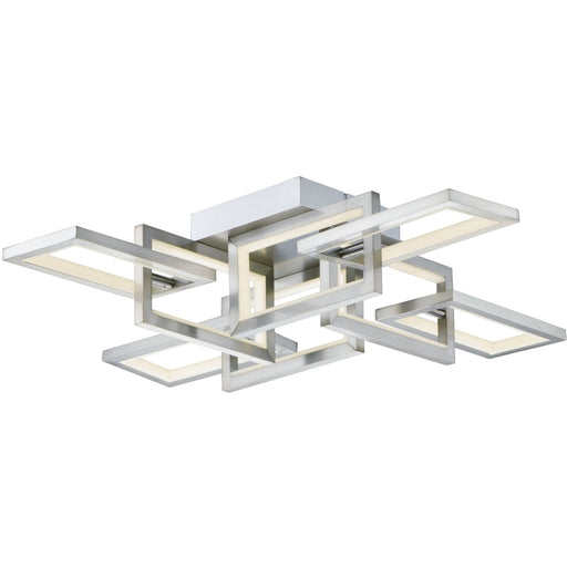 Link Satin Nickel LED Flush Mount Chandelier - Chandeliers