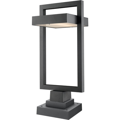 Luttrel Black LED Outdoor Pier Mounted Fixture - Outdoor Pier Mounted Fixture