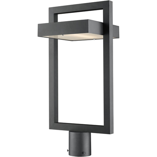 Luttrel Black LED Outdoor Post Mount Fixture - Outdoor Post Mount Fixture