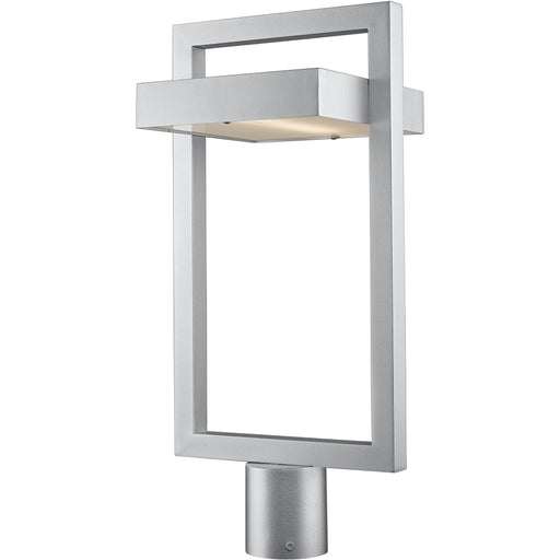 Luttrel Silver LED Outdoor Post Mount Fixture - Outdoor Post Mount Fixture