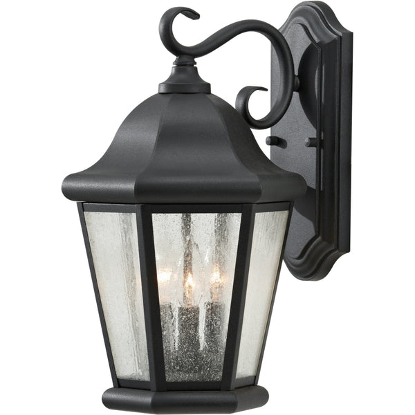 Martinsville Black Outdoor Wall Lantern - Outdoor Wall Sconce