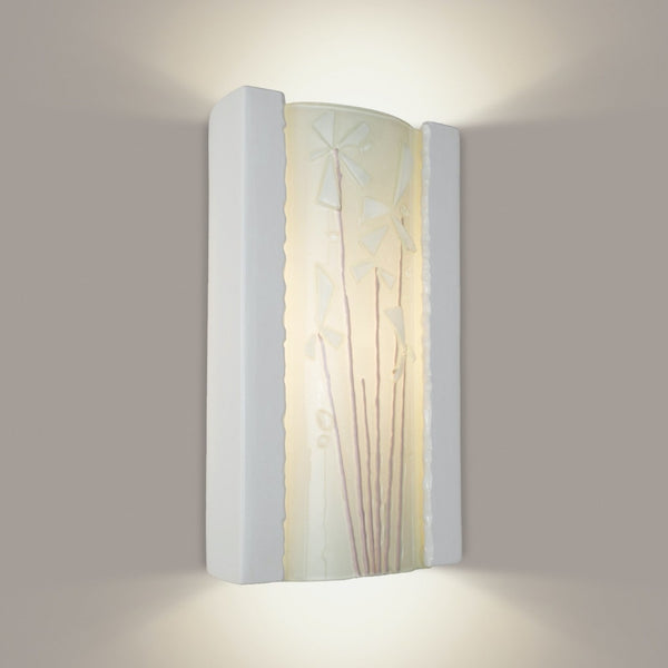 Meadow White Gloss and White Frost Wall Sconce - Wall Sconce