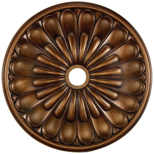 Melon Reed Antique Bronze Medallion - Medallion