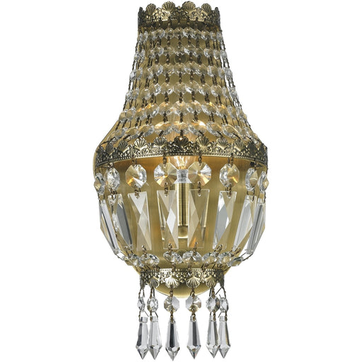 Metropolitan Antique Bronze Clear Crystal 1 Light Wall Sconce - Wall Sconces