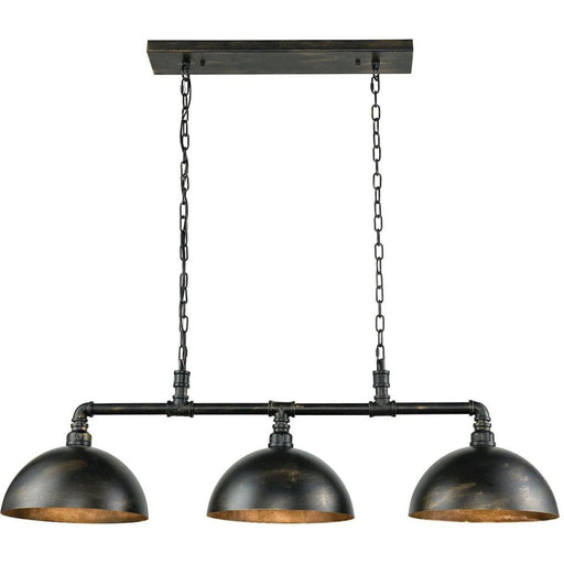 Mulvaney Black Brushed Gold Accents Island Light - Island Light