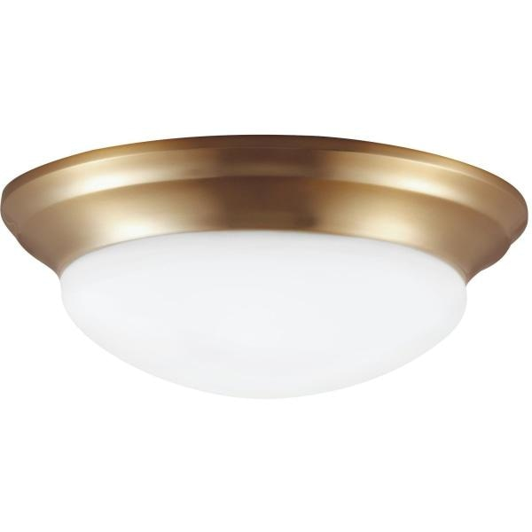 Nash Satin Bronze LED Flush Mount - Flushmounts