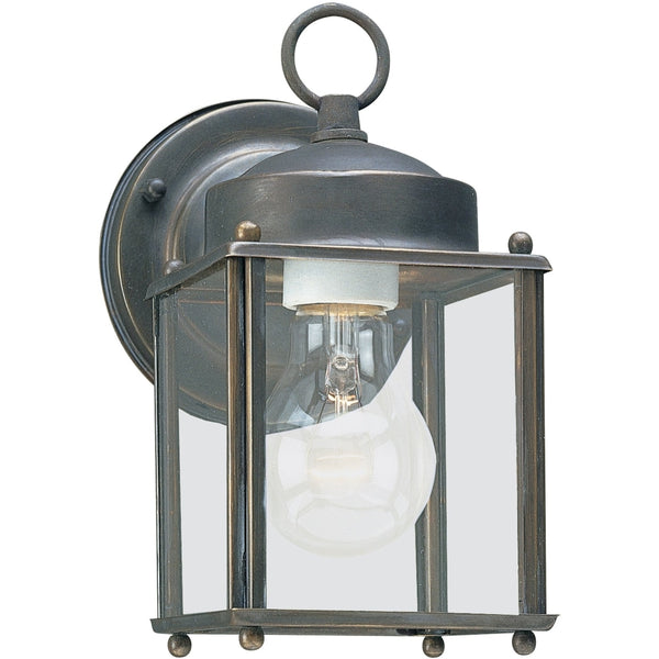 New Castle Antique Bronze Outdoor Wall Lantern - Outdoor Wall Sconce