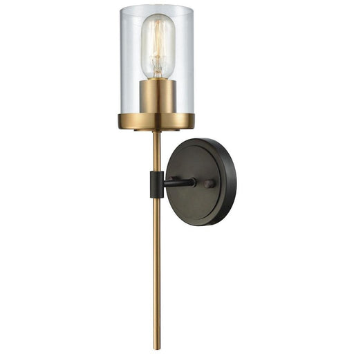 North Haven Oil Rubbed Bronze Satin Brass Wall Sconce - Wall Sconce