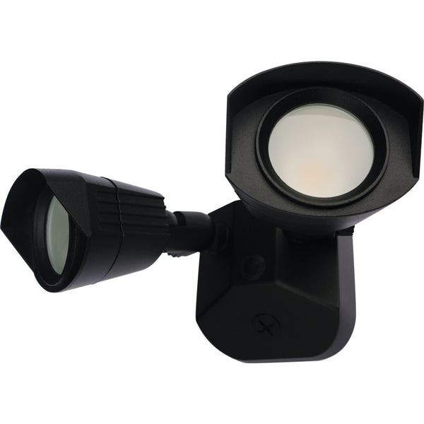 Nuvo Black LED Dual Head Security Light - Landscape