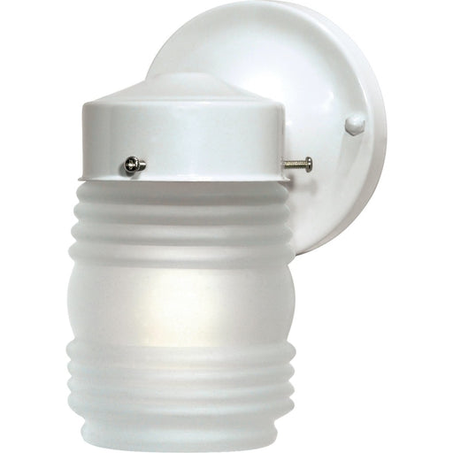Nuvo Gloss White Outdoor Wall Lantern - Outdoor Wall Lantern