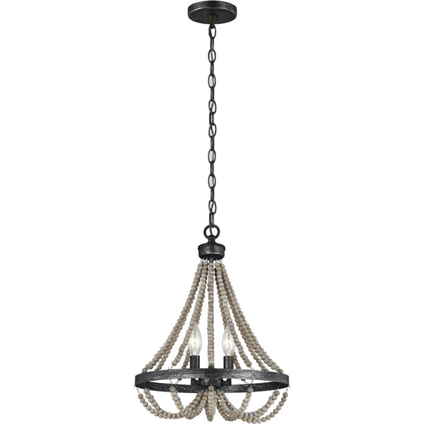 Oglesby Washed Pine Stardust Chandelier - Chandeliers