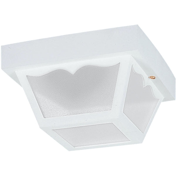 Outdoor Ceiling White LED Outdoor Flush Mount - Outdoor Flush Mounts