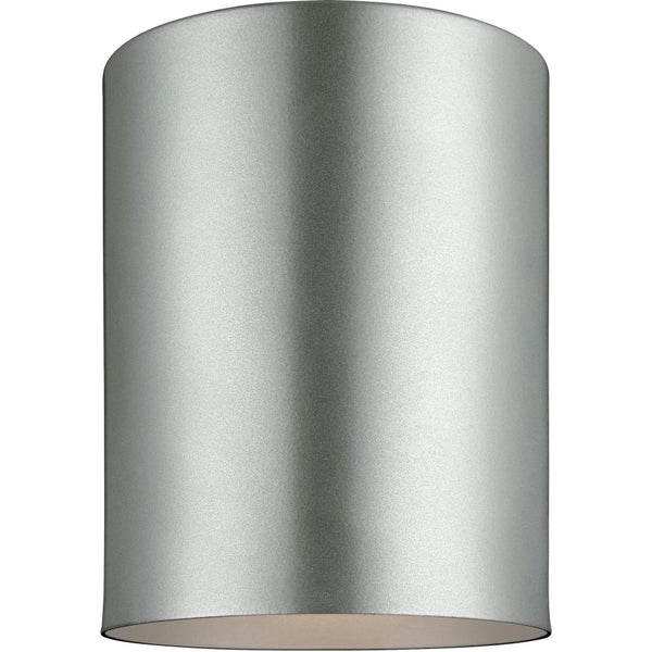 Outdoor Cylinders Painted Brushed Nickel Outdoor Flush Mount - Outdoor Flush Mounts