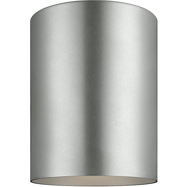 Outdoor Cylinders Painted Brushed Nickel LED Outdoor Flush Mount - Outdoor Flush Mounts