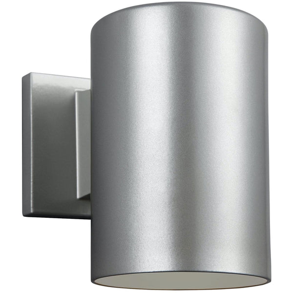 Outdoor Cylinders Painted Brushed Nickel LED Outdoor Wall Lantern - Outdoor Wall Sconce
