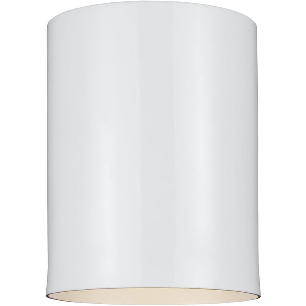 Outdoor Cylinders White Outdoor Flush Mount - Outdoor Flush Mounts