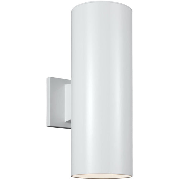 Outdoor Cylinders White LED Outdoor Wall Lantern - Outdoor Wall Sconce