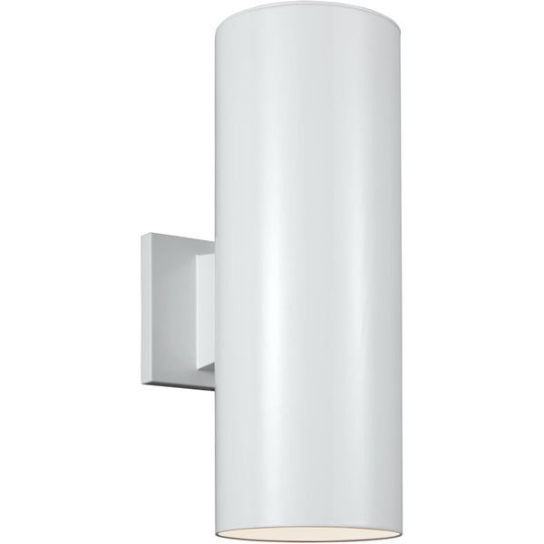 Outdoor Cylinders White Outdoor Wall Lantern - Outdoor Wall Sconce