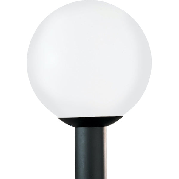Outdoor Globe White Plastic LED Outdoor Post Lantern - Outdoor Post Lantern