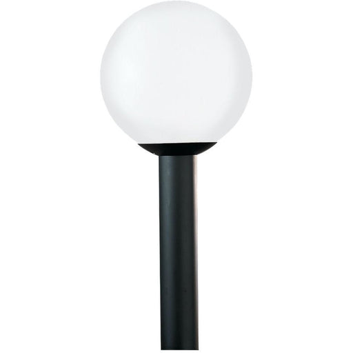 Outdoor Globe White Plastic Outdoor Post Lantern - Outdoor Post Lantern