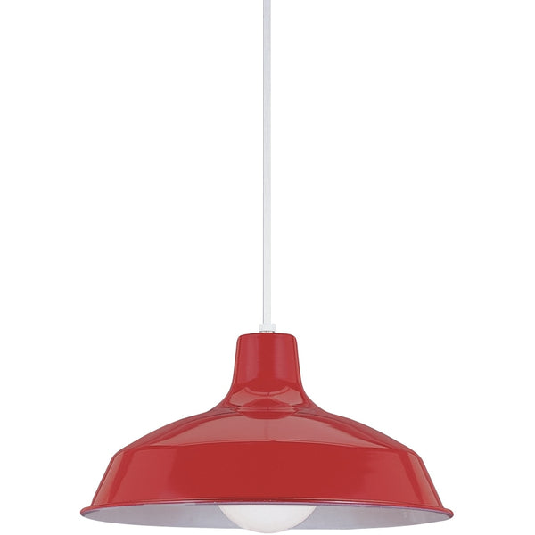 Painted Shade Pendants Red Pendant - Pendants