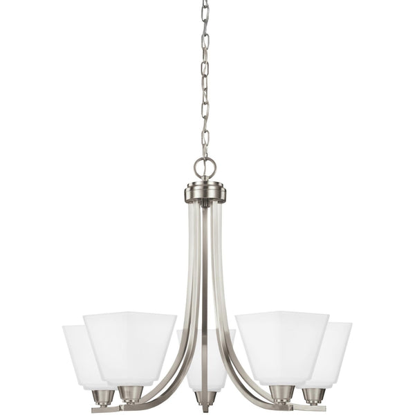 Parkfield Brushed Nickel LED Chandelier - Chandeliers