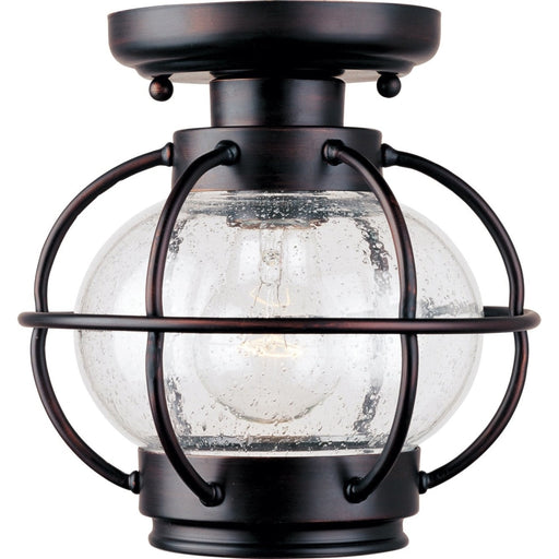 Portsmouth Oil Rubbed Bronze Outdoor Flush Mount - Outdoor Flush Mount