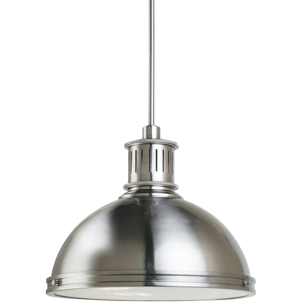 Pratt Street Metal Brushed Nickel Pendant - Pendants
