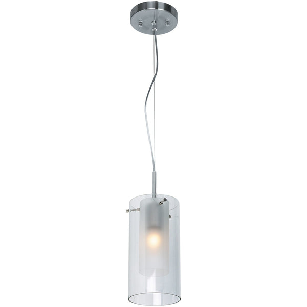 Proteus Brushed Steel Pendant - Pendants